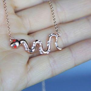 Rhinestone Snake Necklace/Bracelet, Handmade 🌸